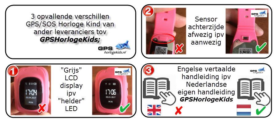Verschillen GPS Horloge Kind Q50 GPSHorlogeKids